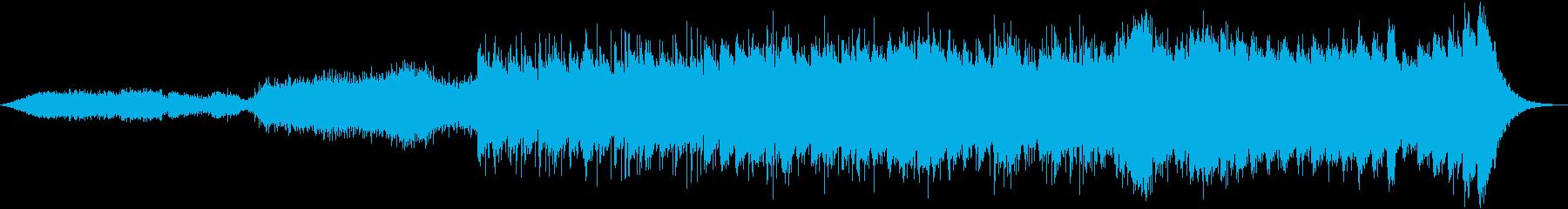 攻撃的アグレッシブノイジーなアンビエントの再生済みの波形