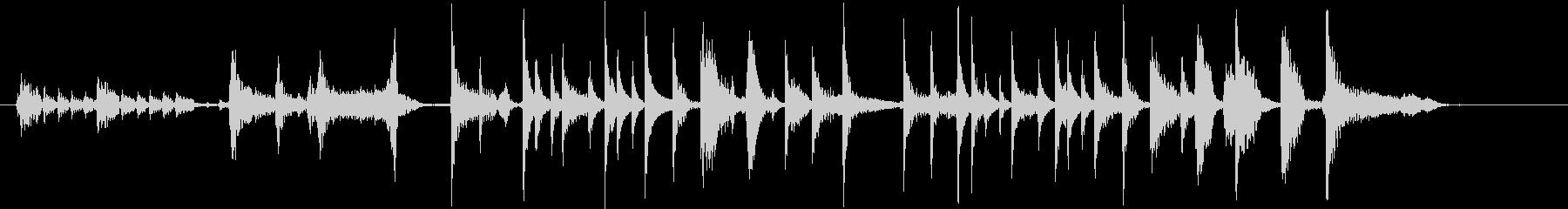 パーカッシブギターの未再生の波形