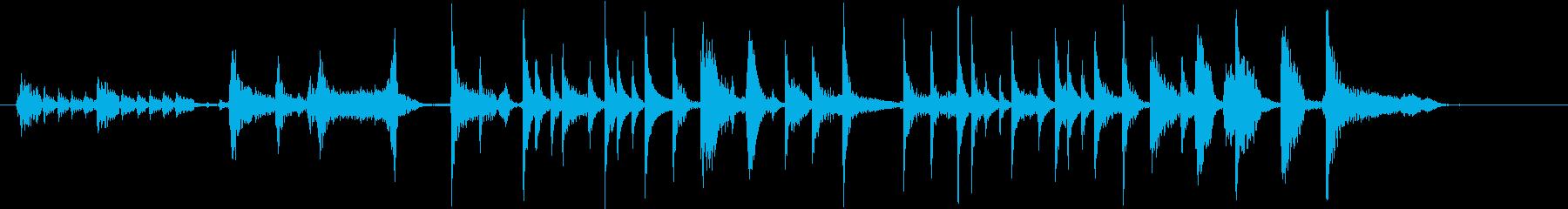 パーカッシブギターの再生済みの波形