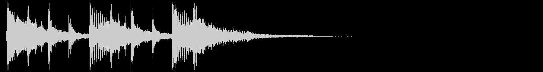 和楽器☆和風ジングル3リバーブの未再生の波形