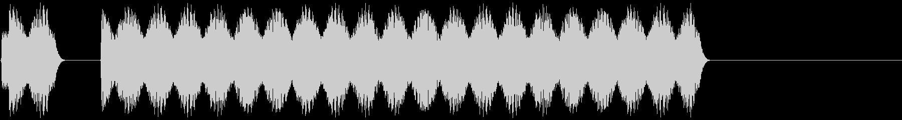 車のクラクションの音 「ビビーッ」の未再生の波形