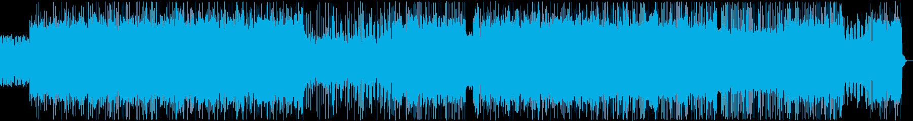 戦闘シーンに最適なメタルロック風の曲の再生済みの波形