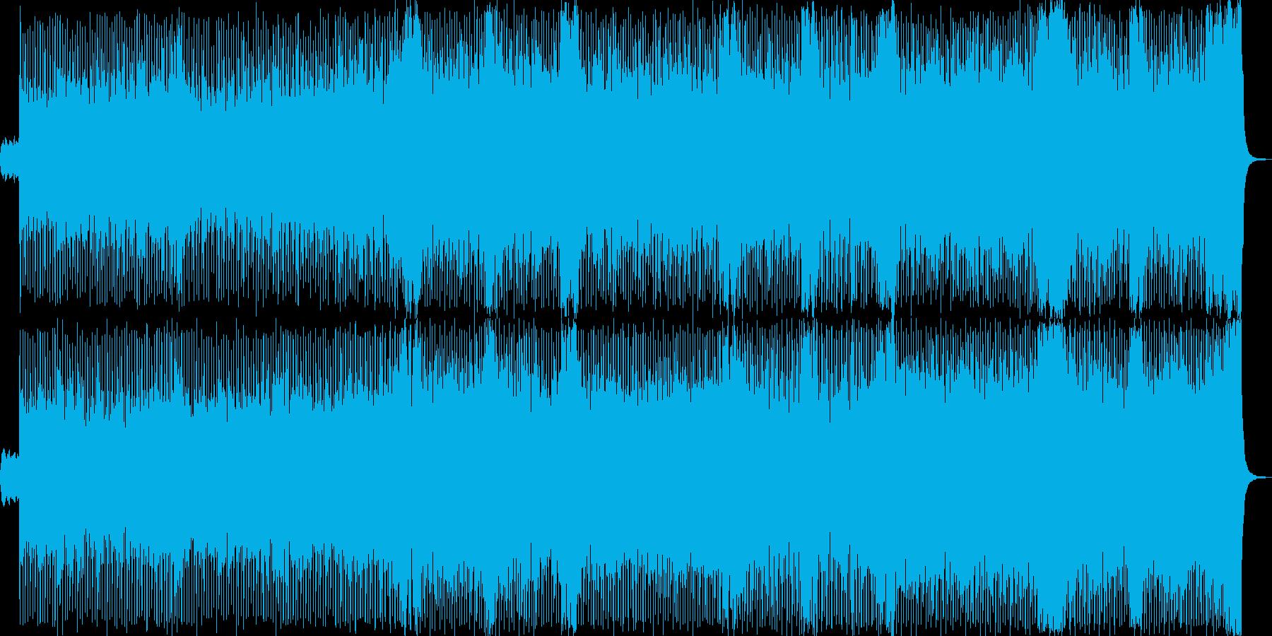 爽やかなシンセサイザーロックの再生済みの波形