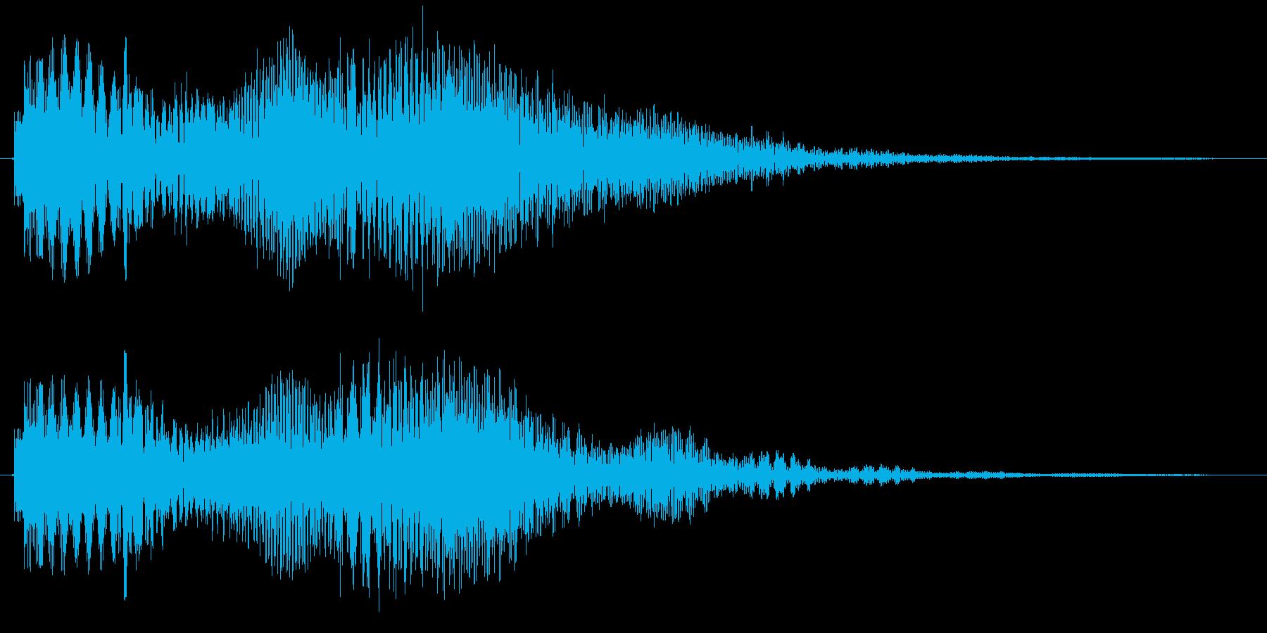携帯、スマホなどの着信音です の再生済みの波形