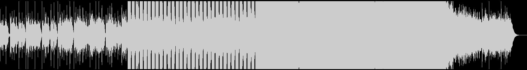 緊張感のあるエレクトロハウスの未再生の波形