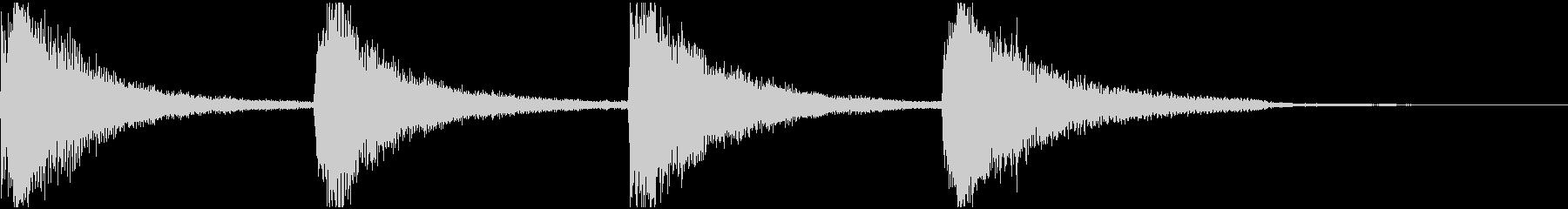 不気味なホラー系の効果音の未再生の波形