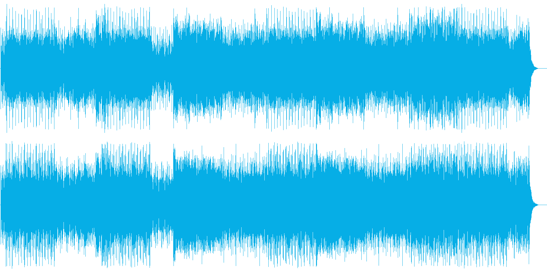 疾走感とドキドキ感のある弦管楽器サウンドの再生済みの波形