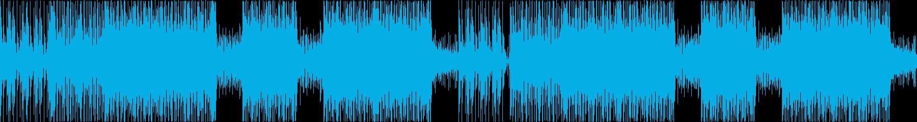 未来感のある無機質なテクスチャー系BGMの再生済みの波形