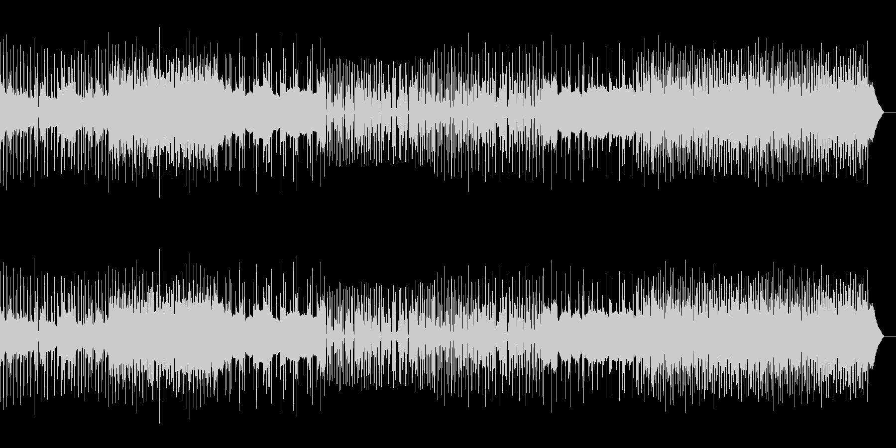 スラップベースとドラムでノリのいいBGMの未再生の波形