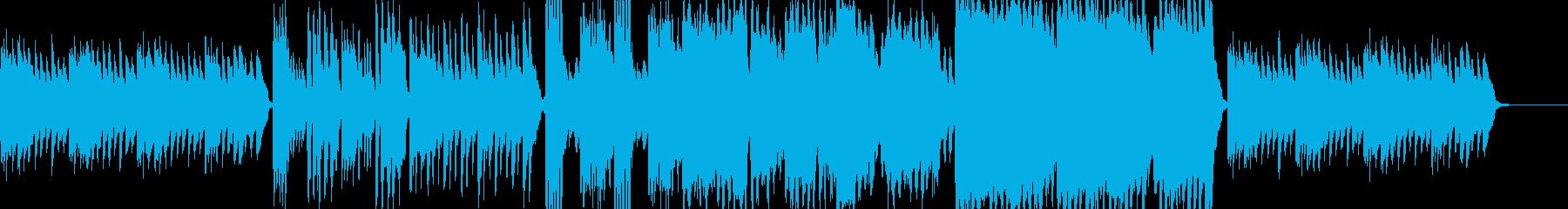 物悲しいハープシコードのホラー曲の再生済みの波形