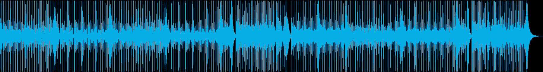 生録音ドラムフレーズその①の再生済みの波形