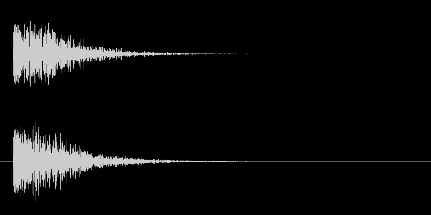 ドーン-5(ヒット音 インパクト音)の未再生の波形