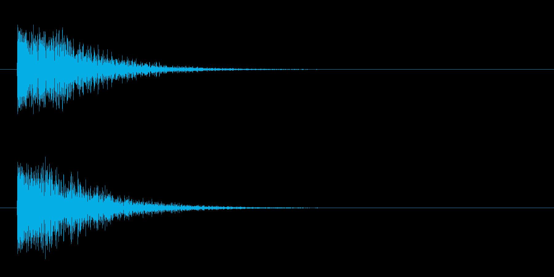 ドーン-5(ヒット音 インパクト音)の再生済みの波形