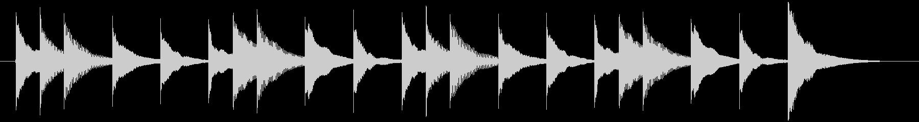 マリンバのシンプルなジングルの未再生の波形
