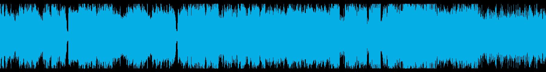 ループ素材 勇壮なチップチューンの再生済みの波形