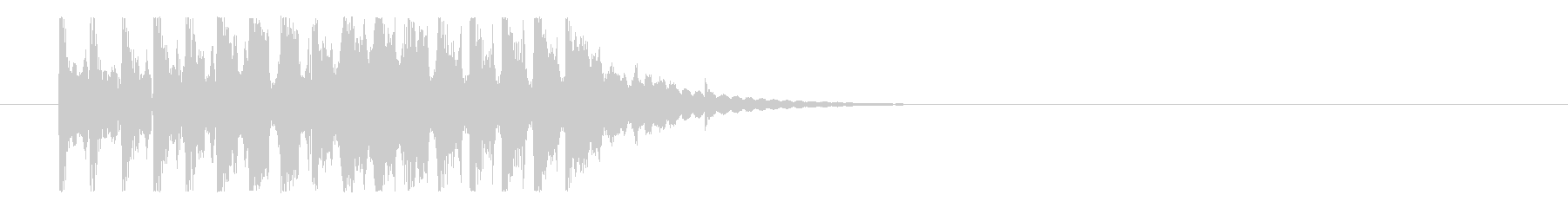 アルペジョのコミカルなロゴの未再生の波形