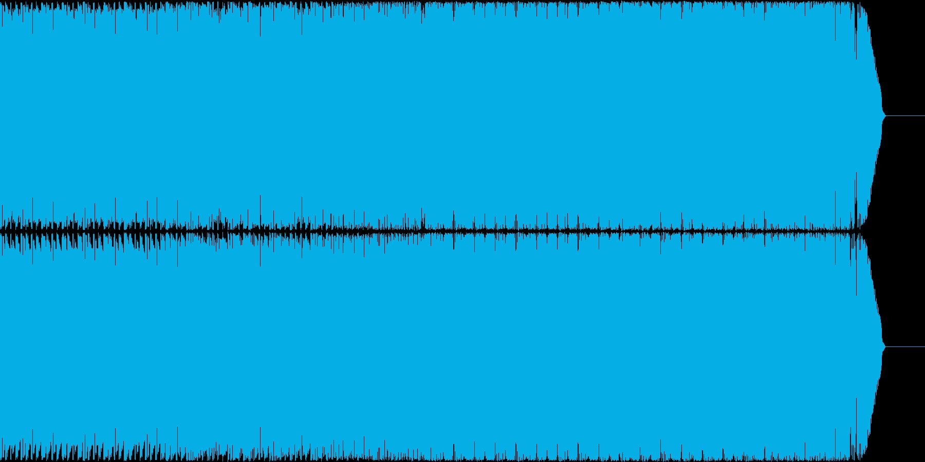 コミカルなゲームのピコピコBGMの再生済みの波形