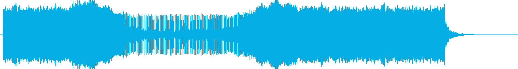 ピィーーーーーーーン(下降→上昇)の再生済みの波形