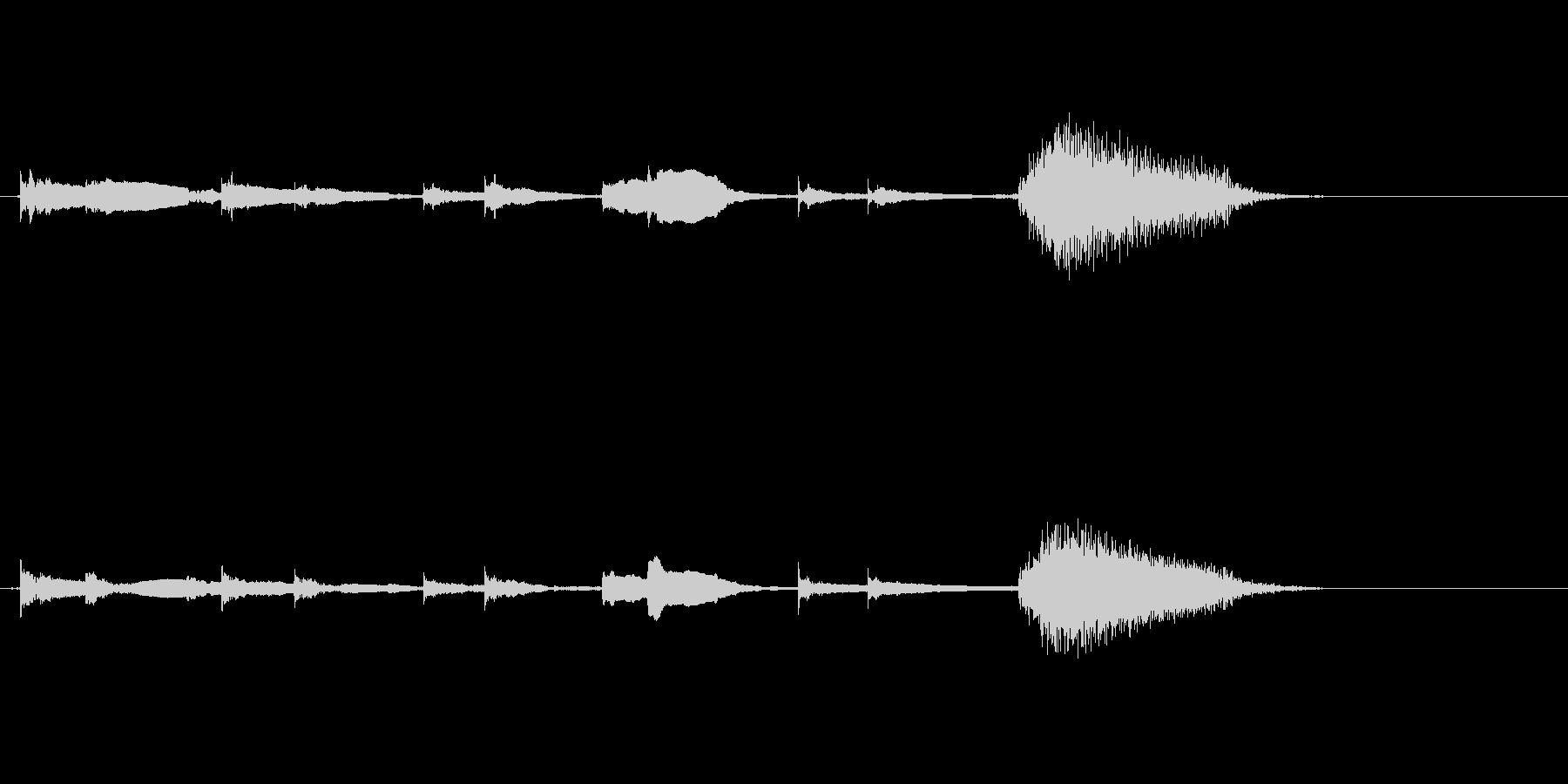 エレキギターチューニング リバーブの未再生の波形
