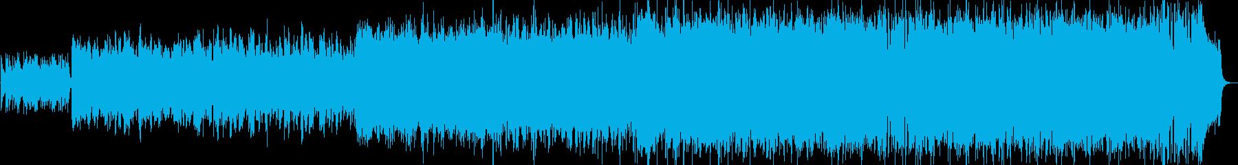 バグパイプのアイリッシュリールの再生済みの波形