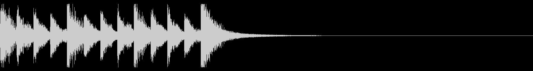 アニメ系ジングル01の未再生の波形