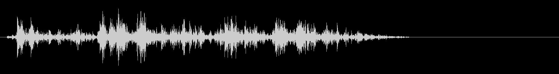 動かす音(トロッコ、滑車、歯車など)の未再生の波形