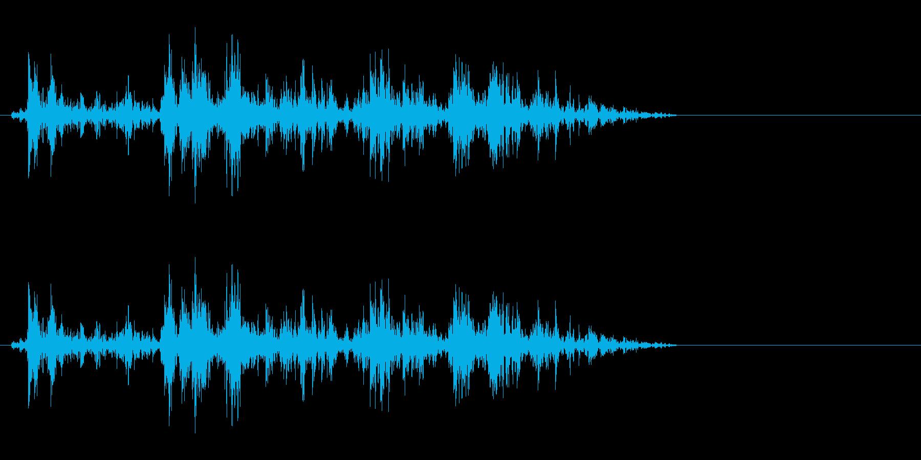 動かす音(トロッコ、滑車、歯車など)の再生済みの波形