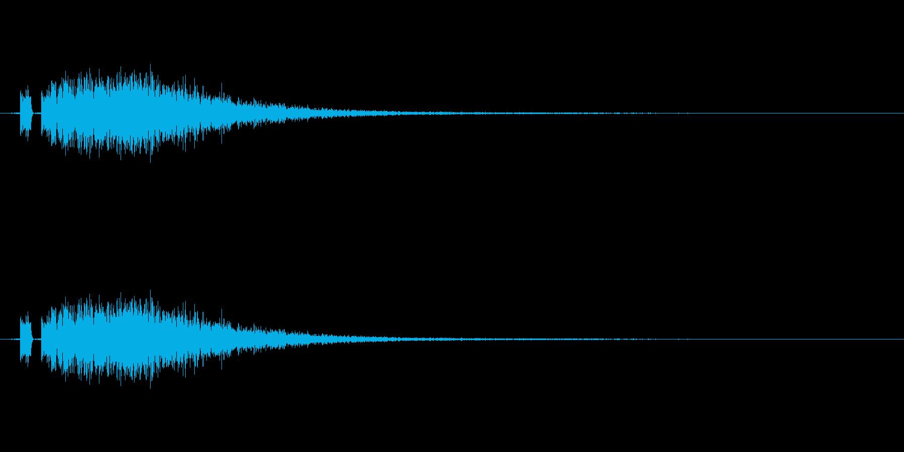 攻撃音。斬撃。「ズシャー」。の再生済みの波形