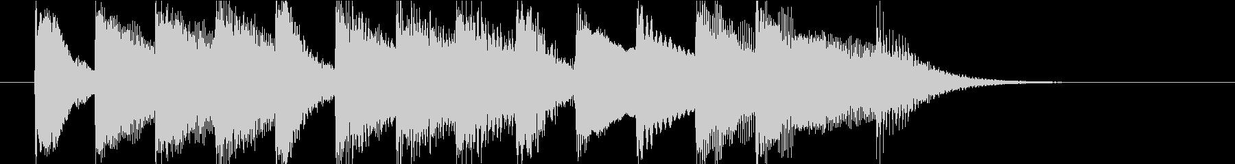 クラシック調のピアノジングルの未再生の波形