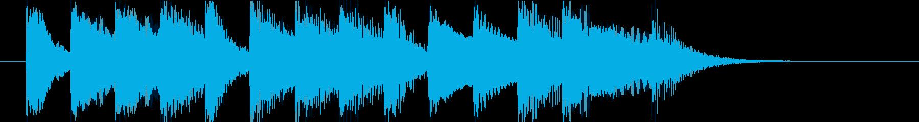 クラシック調のピアノジングルの再生済みの波形