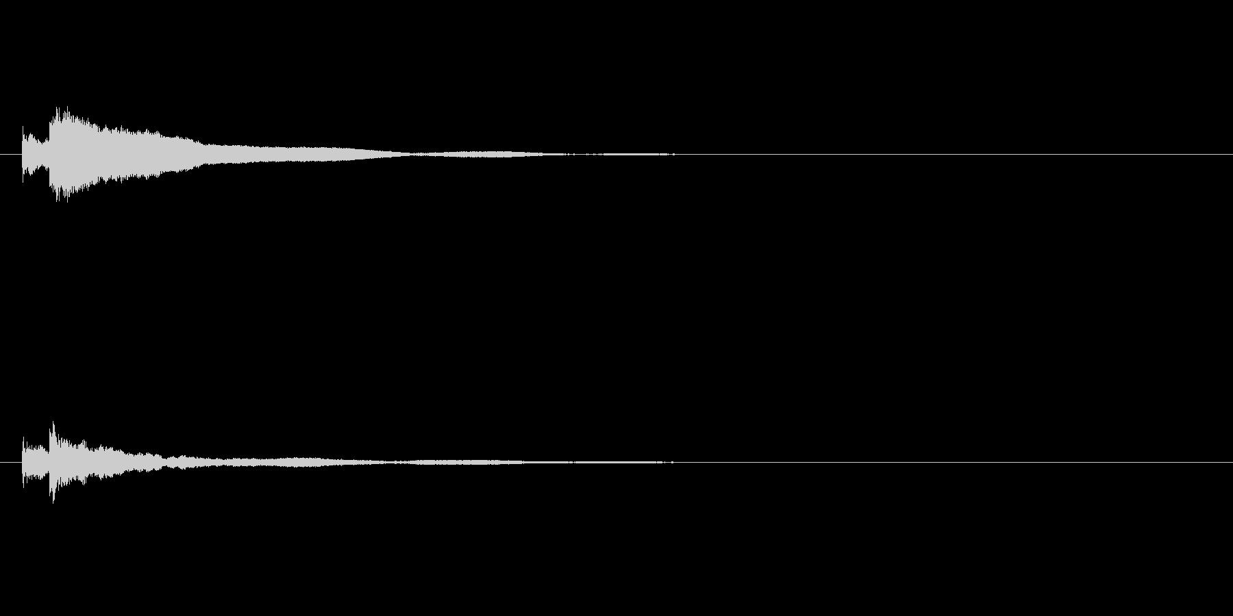 【キラーン】ハンマーダルシマーキラキラ音の未再生の波形