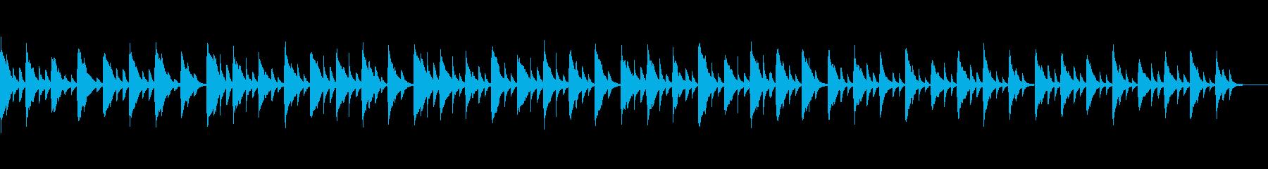 かわいいサウンドから奏でられるメロディの再生済みの波形