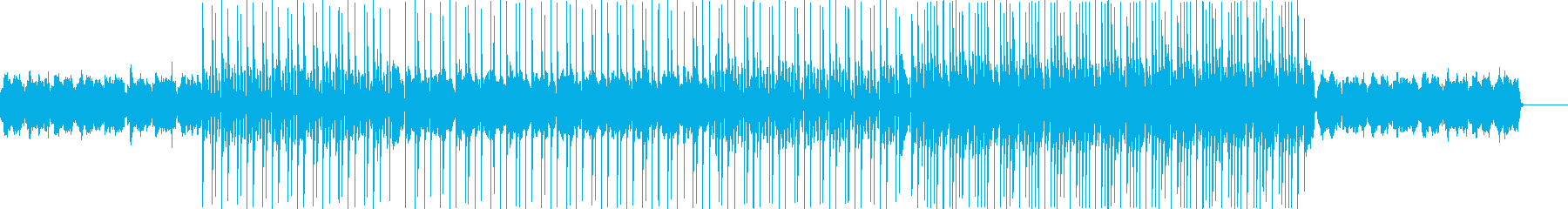 アコーディオンの旋律、悲しい印象の曲の再生済みの波形