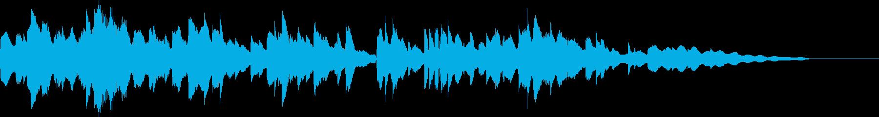 物語のエンディングに優しい音色のエレピ曲の再生済みの波形