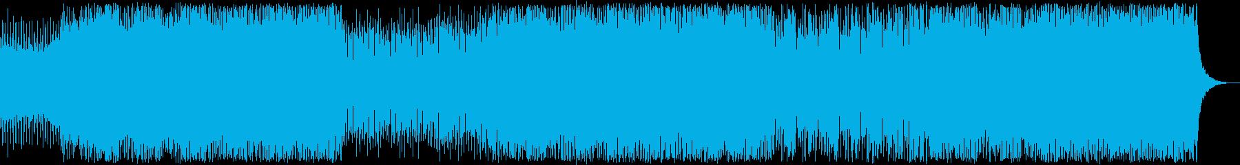 ダークで緊迫感あるテクノ・トランスの再生済みの波形