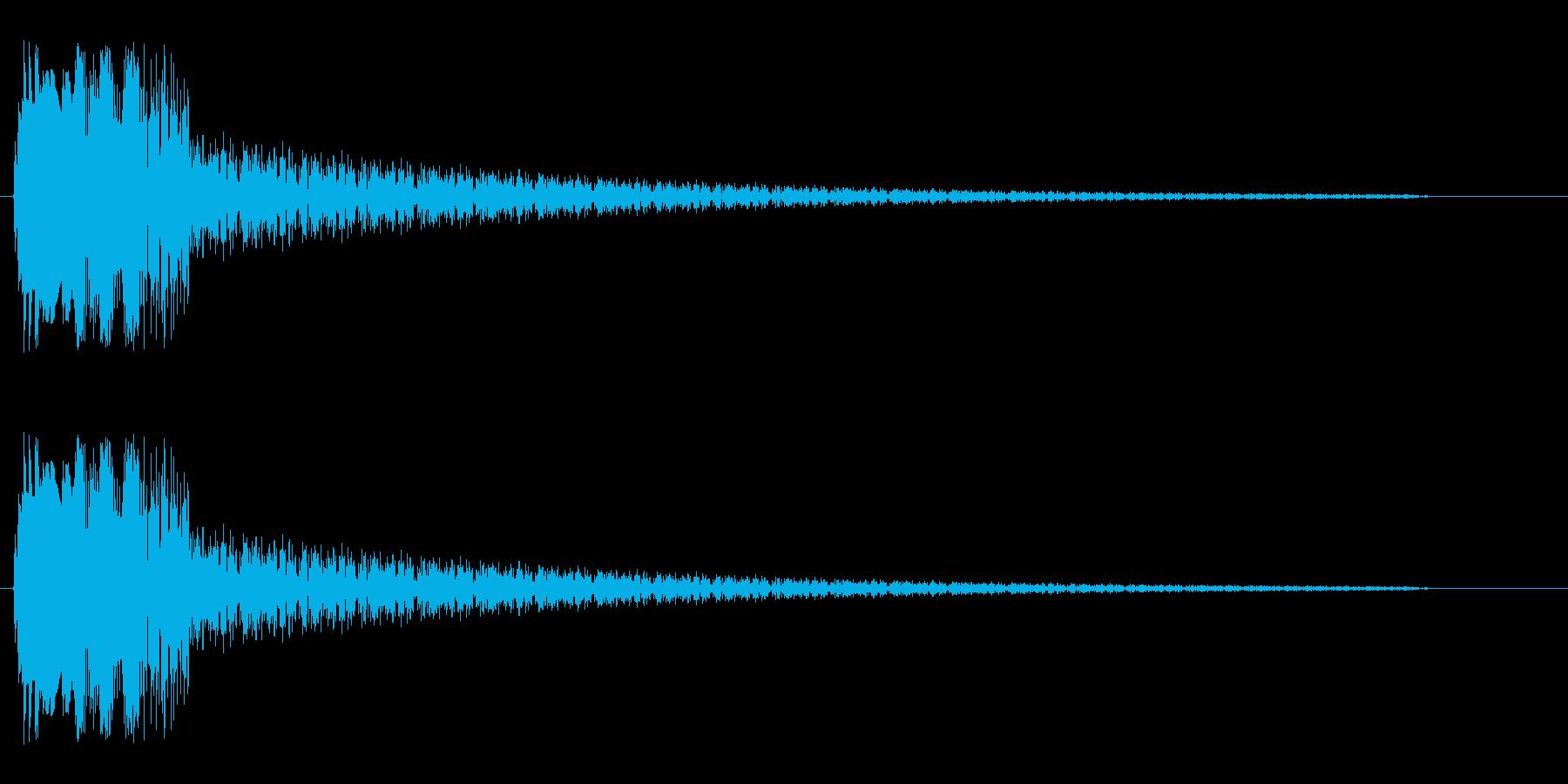 ピビューン(レーザービームの音)の再生済みの波形