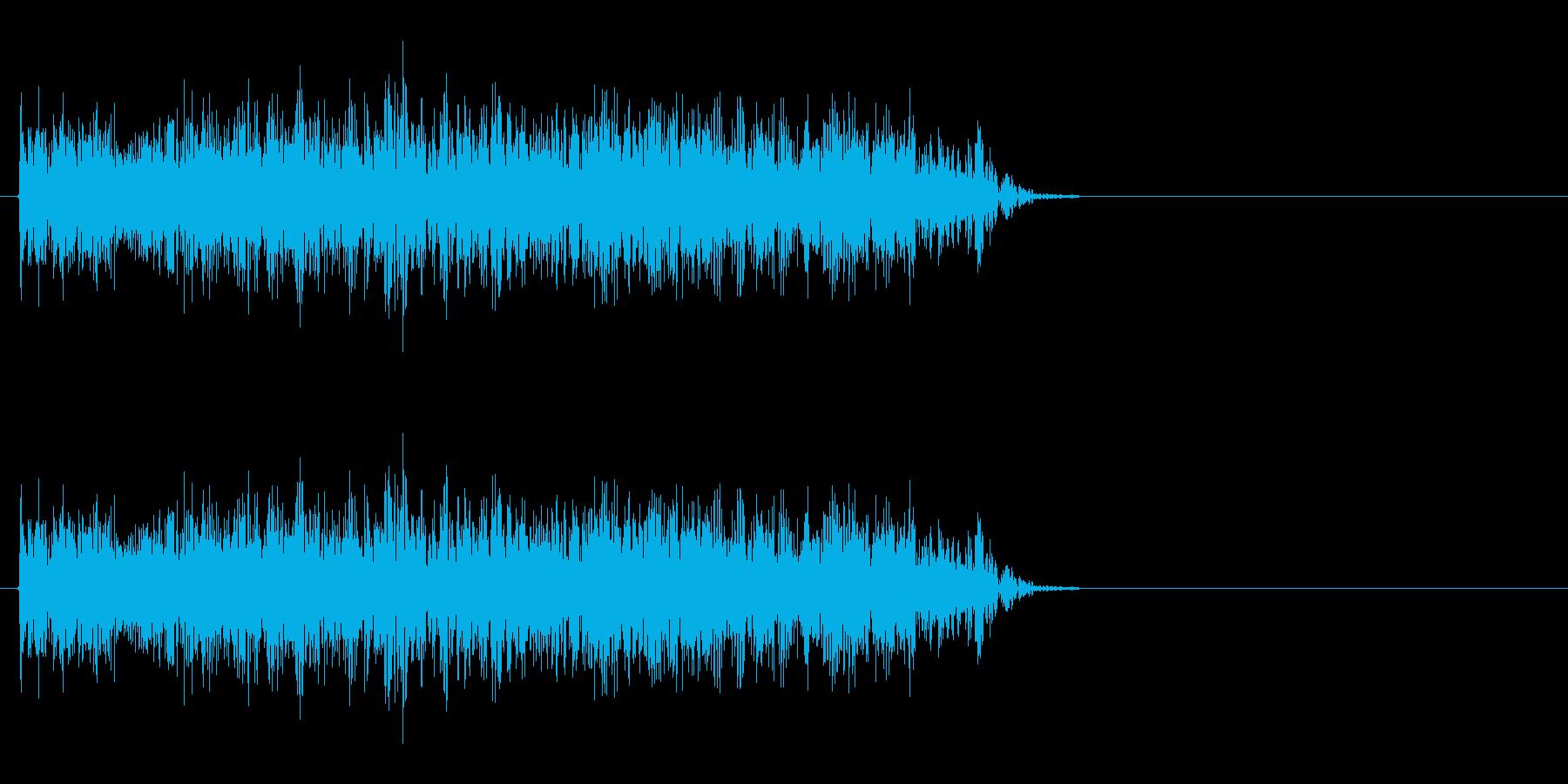 火炎放射機のような音の再生済みの波形