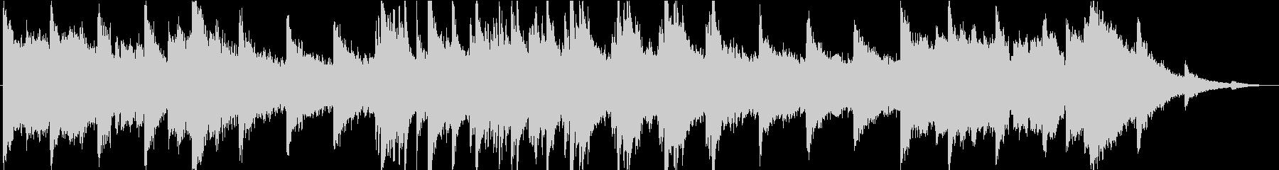 不思議・不穏で悲しげな曲の未再生の波形