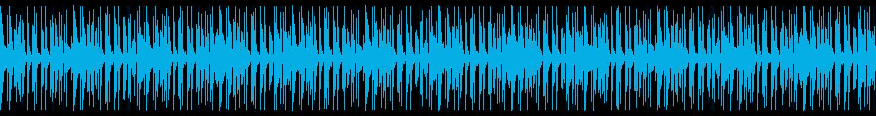 ピンポン跳ねるポップなループ曲の再生済みの波形