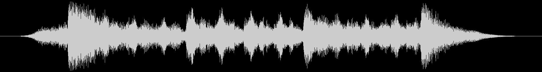 ハローウィン用のホラー曲-バンパーの未再生の波形