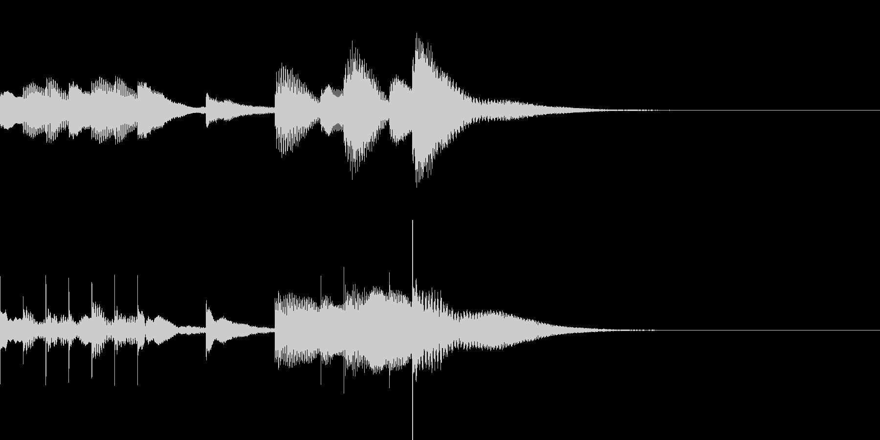 マリンバとグロッケンのジングル3の未再生の波形