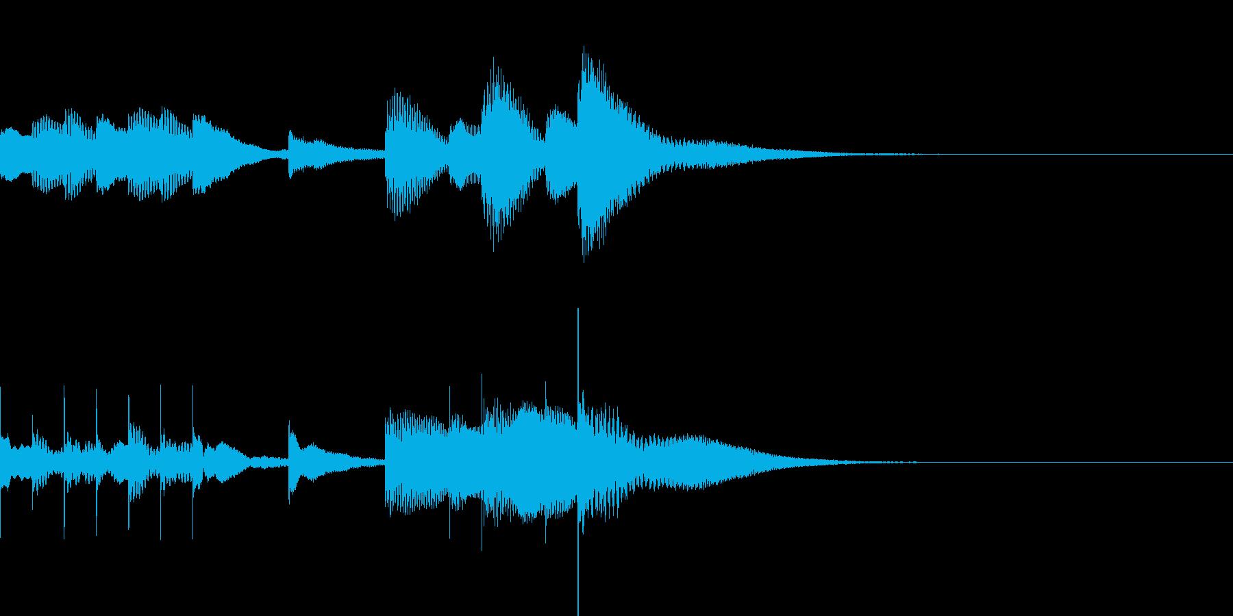 マリンバとグロッケンのジングル3の再生済みの波形