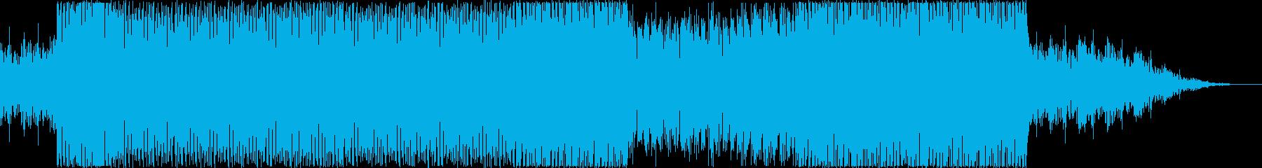 流れるようなテクノの再生済みの波形