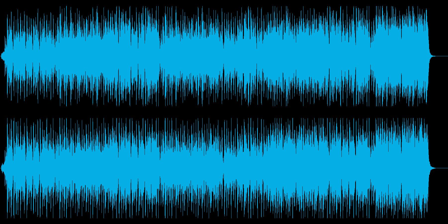 ゲーム、サスペンス向けBGMの再生済みの波形