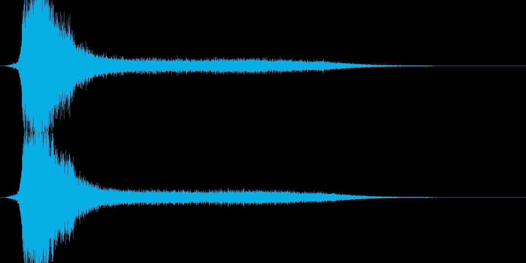 RPG系魔法詠唱イメージ音01の再生済みの波形