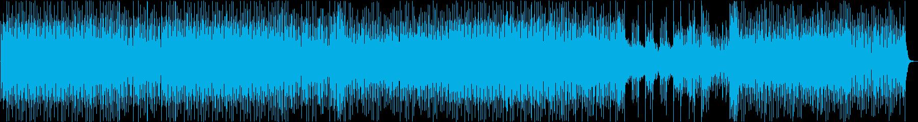 和風の三味線EDMの再生済みの波形