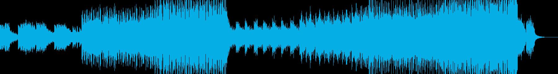 フューチャーポップ風BGMの再生済みの波形