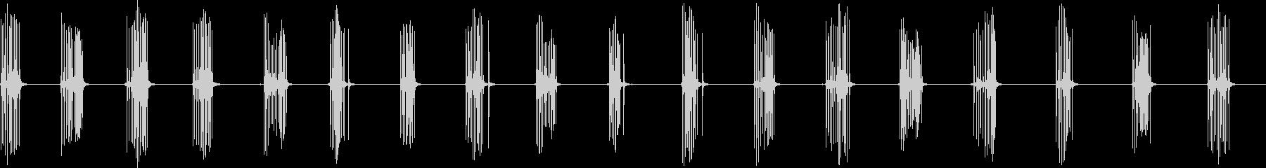 小さなラチェッチングクランク:巻き...の未再生の波形