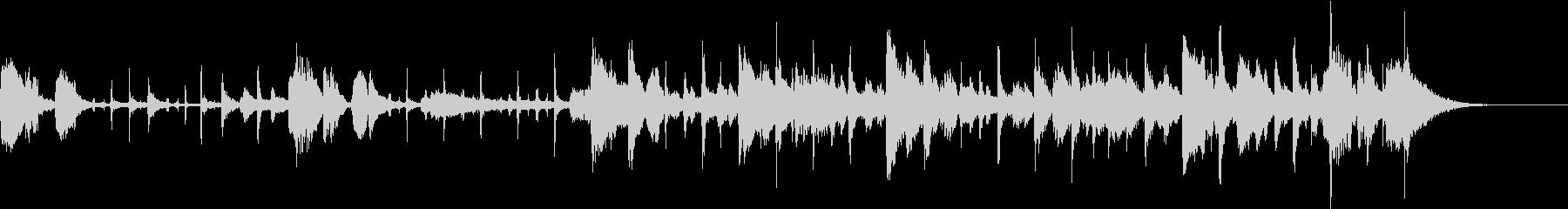 和楽器のジャズのオシャレなコラボの未再生の波形