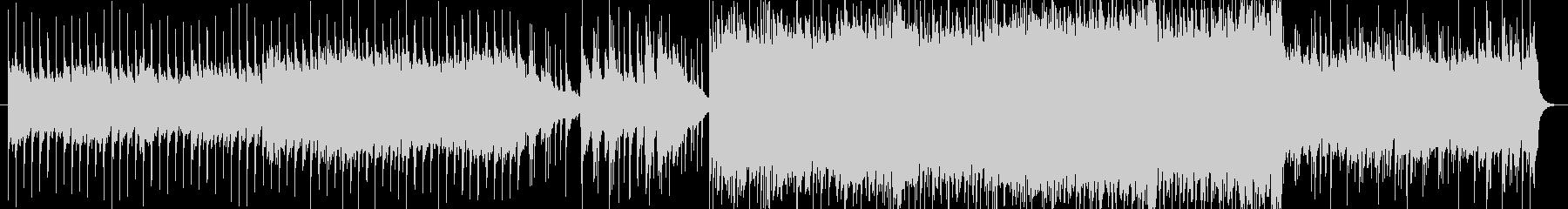 アルペジオとオクターブ奏法のギターロックの未再生の波形